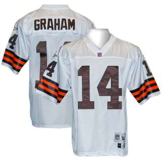CLEVELAND BROWNS Otto Graham THROWBACK RBK White Jersey L