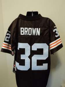 Vintage Throwback 1963 Cleveland Browns Jim Brown Youth Jersey NWT M