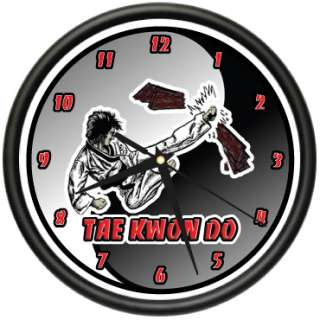 TAE KWON DO Wall Clock martial arts black belt gift