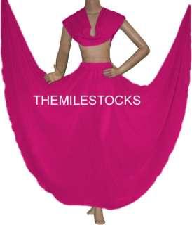 TMS Multi Skirt Veil Belly Dance TRIBAL Costume Dress