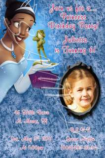 Disney Princess Custom Birthday Invitation w/envelopes