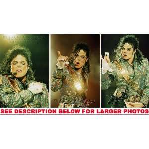 MICHAEL JACKSON DANGEROUS TOUR COLORS (3) RARE 8x10 FINE