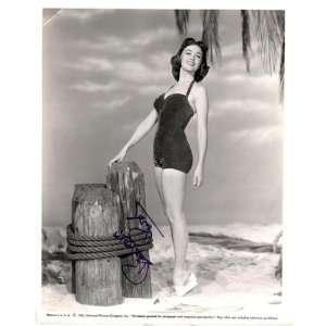 Actress Barbara Rush Autographed 8 X 10 Publicity