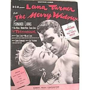 Merry Widow Lana Turner Fernando Lamas: Robbins Music Corp: Books