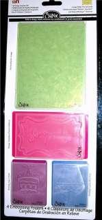 Sizzix Embossing Folders 4 pk BIRTHDAY SURPRISE SET