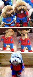 PET/DOG/CAT cloth spiderman costume show any size