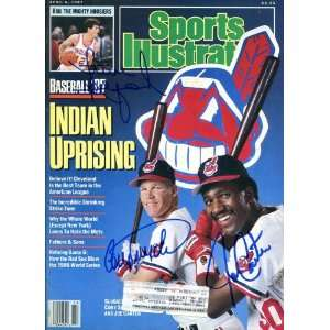 Cory Snyder, Joe Carter & Steve Alford Autographed Sports Illustrated