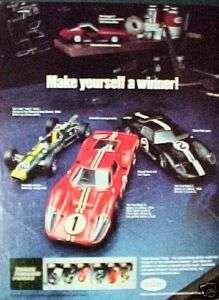 1977 Testors Ford Racing Model Car Kits Kids Toy Art AD