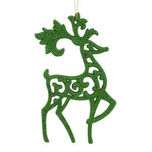 Holiday Time Green Notes Reindeer Christmas Ornament Christmas Decor
