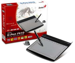 Genius G Pen F610 Slim Graphic Tablet For Windows & Mac 091163223566