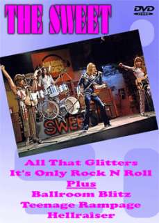 THE SWEET ALL THAT GLITTERS & ITS ONLY ROCK DVD