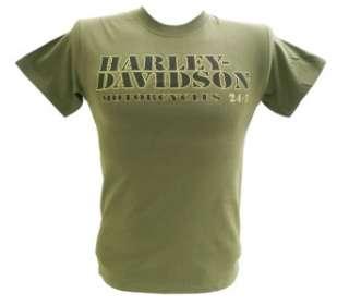 Harley Davidson Las Vegas Dealer Tee T Shirt GREEN MEDIUM #RKS