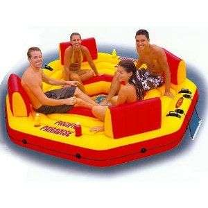 New Intex Pacific island lounger inflatable Float tube