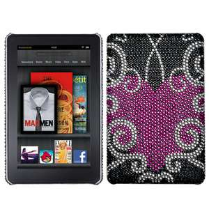 Kindle Fire   CRYSTAL DIAMOND BLING HARD BACK CASE COVER Pink