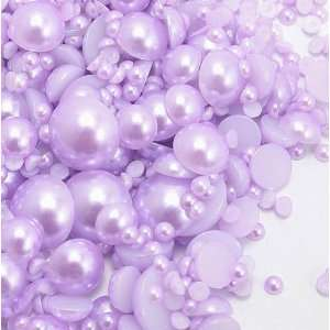 Light Purple Color Mixed Sizes Flatback Pearl Cabochon by Lovekitty