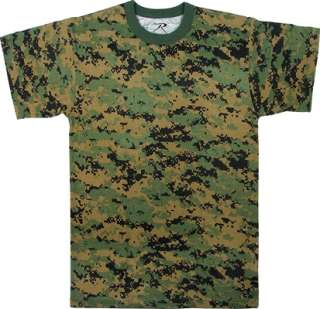 Shirt Mens Marine Woodland Digital Camo Tee USMC 613902064904