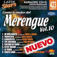 Latin Stars Karaoke CDG #423   MERENGUE Vol. 10