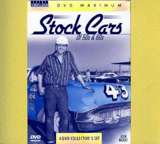 Stock Cars of 50s & 60s (4 DVDs) NASCAR Race Cars NEW