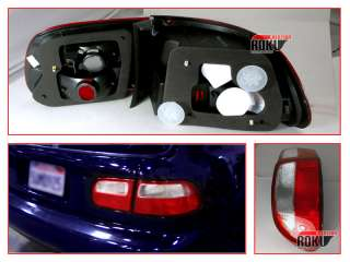 92 93 94 95 HONDA CIVIC EG 3DR RED/CLEAR TAIL LIGHTS
