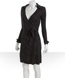 Diane Von Furstenberg sky dot print silk jersey Jeanne wrap dress
