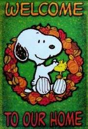 PEANUTS GANG  WELCOME  Small Garden Flag SNOOPY
