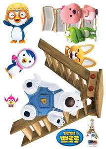pororo kids wall decor decal stickers peel stick removable