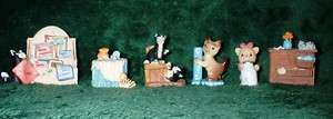 Kitty Cat Figurines~Penny Whistle, Precious Moments ~Adorable
