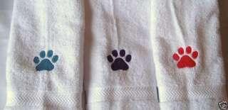 BIG PAW PRINT DOG/CAT   HAND TOWEL   ADORABLE