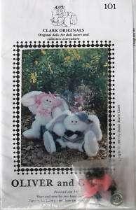 Stuffed animal pattern 14 plush bunny rabbit Oliver