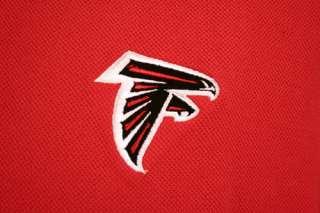 ATLANTA FALCONS MENS COACHES POLO SHIRT NFL NEW RED S