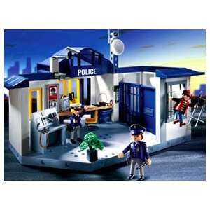 Playmobil Police Station with Jail Cell: Toys & Games
