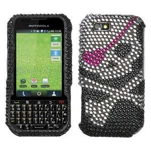 Skull Crystal BLING Hard Case Phone Cover Sprint Nextel Motorola