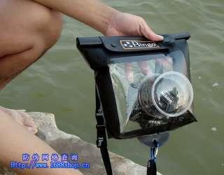 DSLR SLR Camera Waterproof Case For Canon Nikon BLACK