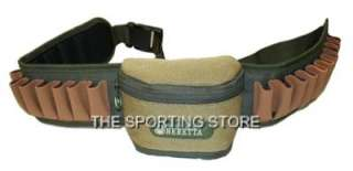 BERETTA LEATHER CORDURA CARTRIDGE BELT WITH POUCH 12g