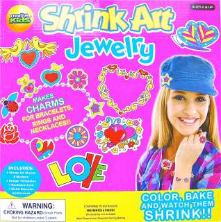 Art Jewelry Makes Charms Bracelets Rings Necklaces Craft Kits