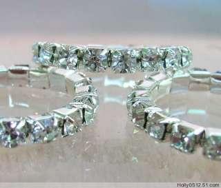 Wholesale 1000Pcs 1Row Crystal Rhinestone toe rings