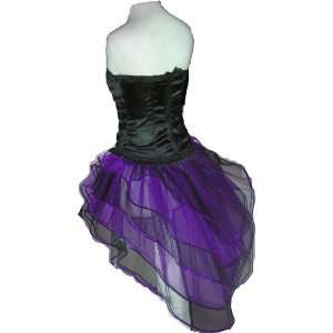 Purple Sequins Tutu Skirt Peacock Halloween Uv Neon Punk Rave Gothic
