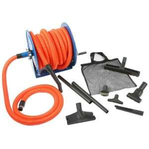 Central Vacuum Kit with 50 foot hose and Hose Reel