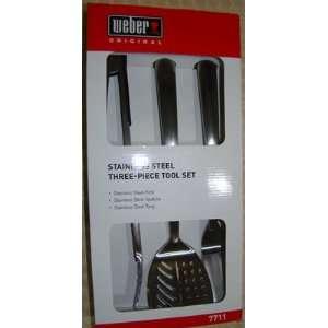 Weber Original 3 Piece Stainless Steel Grill Tool Set